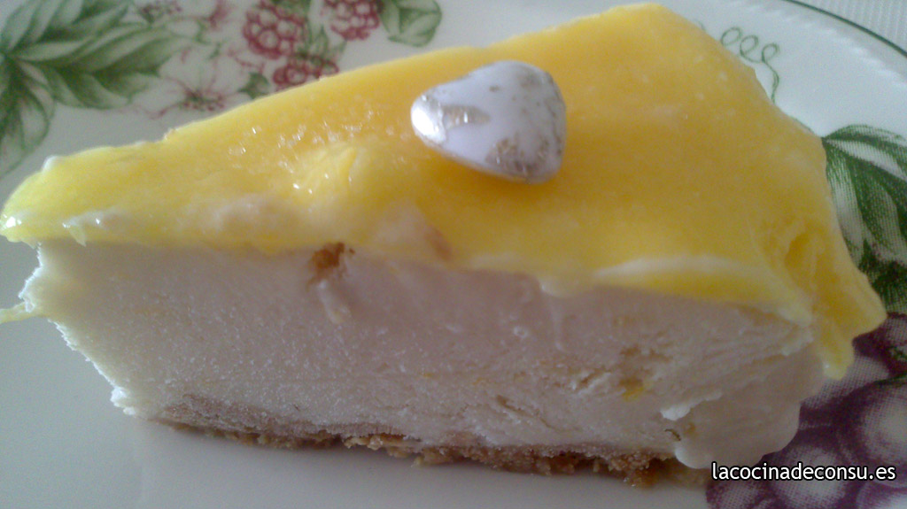 Tarta helada de limón