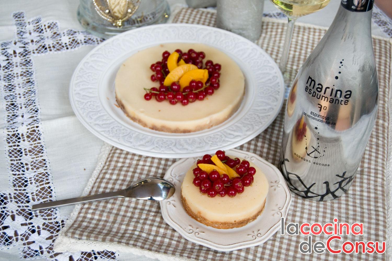Tarta de crema de vino espumante