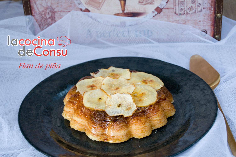 Flan de piña con manzana