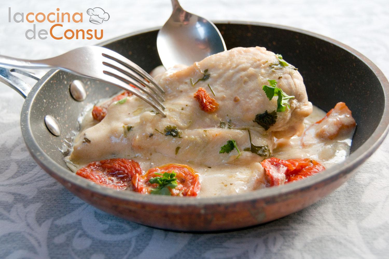 Pechuga de pollo con tomates secos