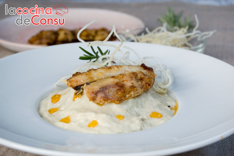Crema de alcachofas con escabeche de sardina