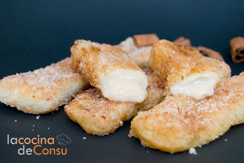 Teresitas de crema pastelera con masa de hojaldre