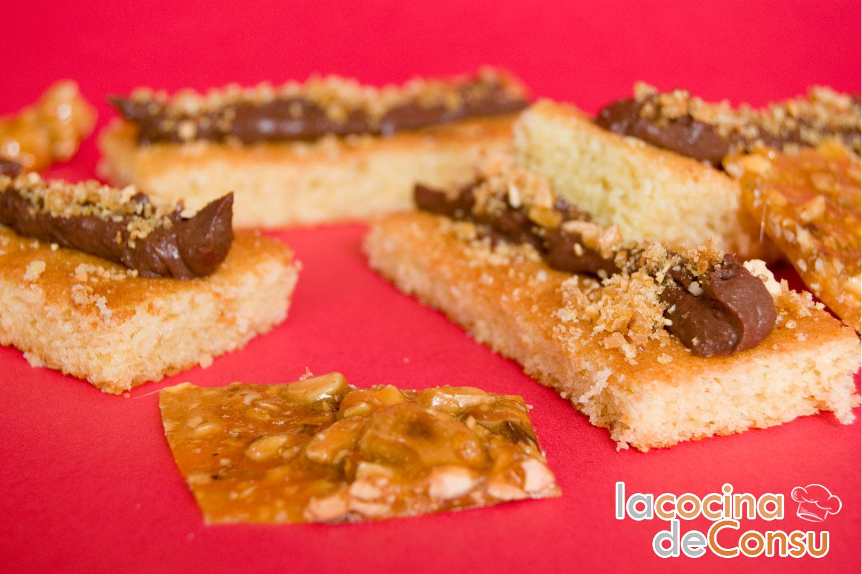 Biscuit con cremoso de chocolate y crocante de almendra