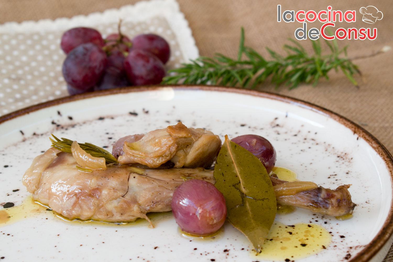 Guiso de conejo con uvas del Vinalopó
