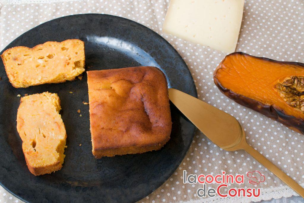 Tarta de calabaza y queso curado