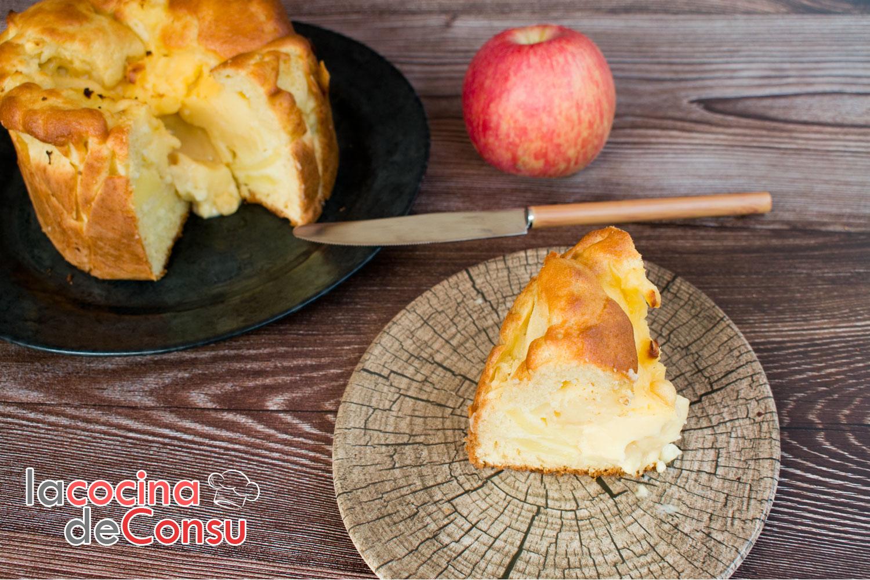 Bizcocho de manzana con crema pastelera