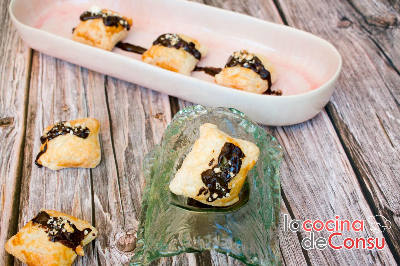 Bombas de queso con chocolate especiado y kikos